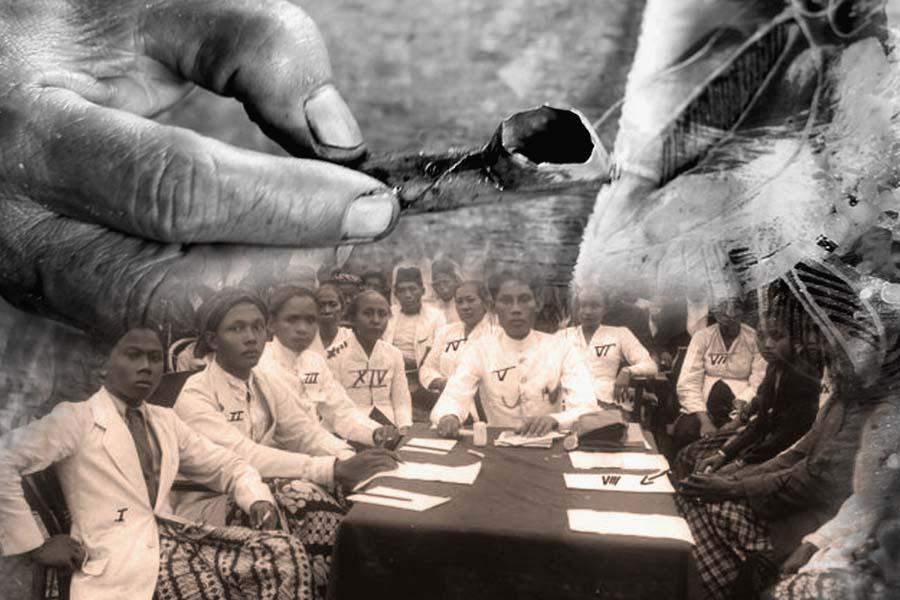 Pesindon, Batik dan Gerakan Kiri