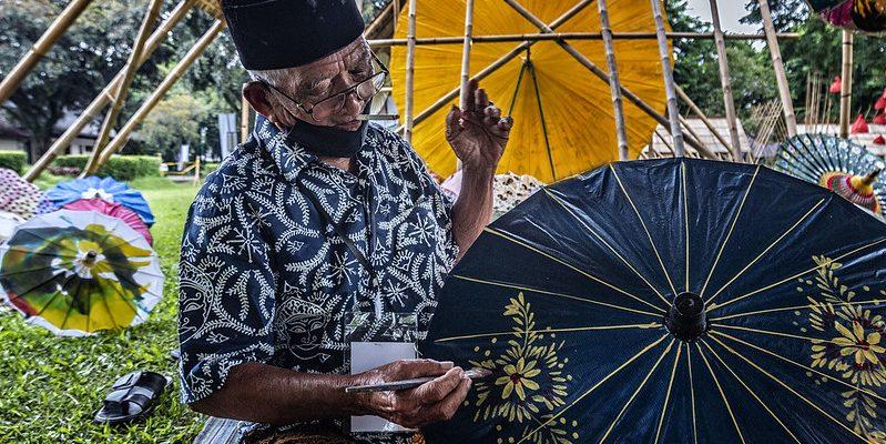 batik kawung rokok